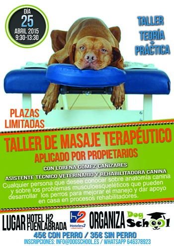 Taller de masaje terapéutico aplicado por propietarios - Escuela de ...